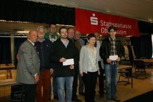 Gruppenbild der Siegerehrung (Foto: Jürgen Cziczkus)