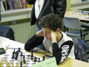 Razvan Grumaz in seiner Partie gegen Venice Barthelmes